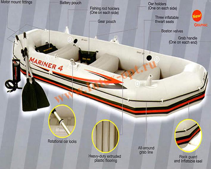 лодка надувная маринер 4