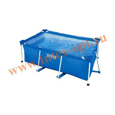 INTEX 28270(58983) Бассейн с металлическим каркасом 220х150х60 см