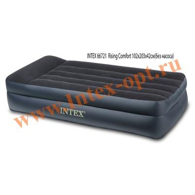 INTEX 66721 Односпальная надувная кровать Rising Comfort 99х191х42см (без насоса)