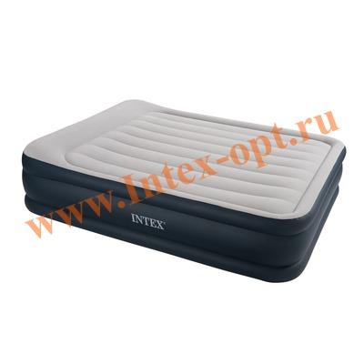 INTEX 67736 Двуспальная надувная кровать Rising Comfort 152х203х43см (без насоса)