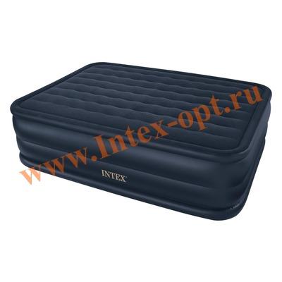 INTEX 66718 Двуспальная надувная кровать Rising Comfort 152х203х56см (со встроенным насосом 220 В)
