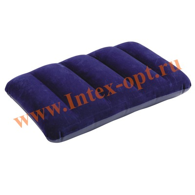 INTEX 68672 Надувная флокированная подушка Downy Pillow 43х28х9 см(синяя)