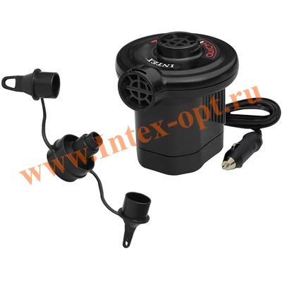 INTEX 66626 Электрический воздушный насос Quick-Fill DC Electric Pump, 12В (работает от прикуривателя в автомобиле)