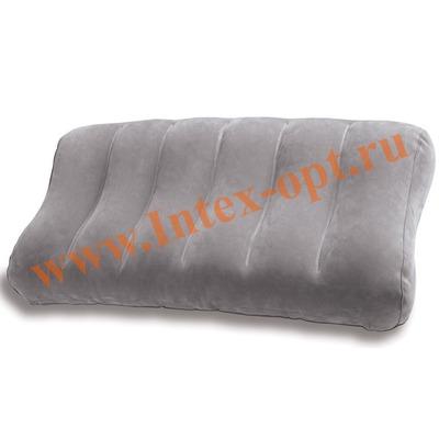 INTEX 68677 Надувная флокированная подушка Ultra-Comfort Pillow 61х30х10см