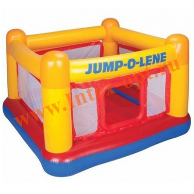 INTEX 48260 Надувной игровой центр-батут Playhouse Jump-O-Lene 174х174x112 см(от 3 до 6 лет)