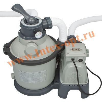 INTEX 28644 Песочный фильтр-насос для очистки воды плавательных бассейнов 4 куб.м/ч, 220 В
