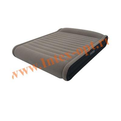 INTEX 67726 Двуспальная надувная кровать Deluxe Pillow Rest 152х203х33см (с насосом 220В)