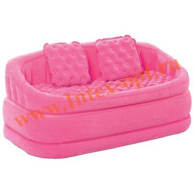 INTEX 68573 Двухместный надувной диван Cafe Loveseat 157х86х69 см (без насоса) розовый