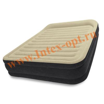 INTEX 64404 Двуспальная надувная кровать Premium Comfort 152х203х33см (со встроенным насосом 220В)