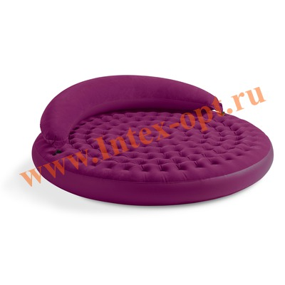 INTEX 68881 Двуспальная надувная кровать-шезлонг 191х53см (без насоса)