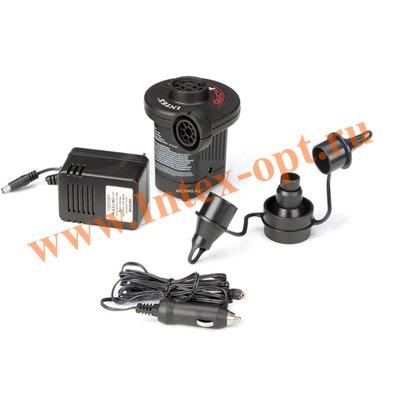 INTEX 66632 Электрический воздушный насос Quick-Fill AC/DC Electric Pump, 220В/12В