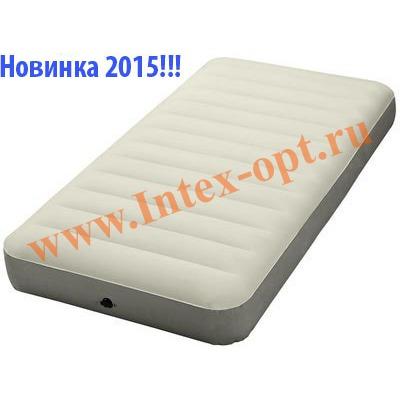 INTEX 64701 Односпальный надувной матрас Intex Deluxe 99х191х25см