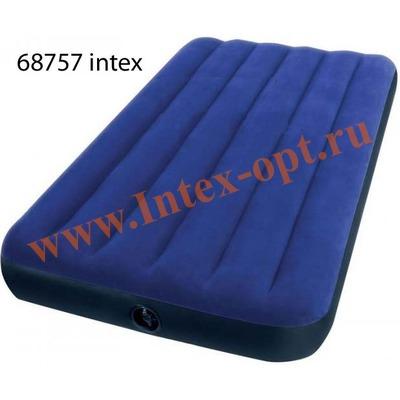 INTEX 68757 Односпальный надувной матрас(матрац) CLASSIC 99х191х22см