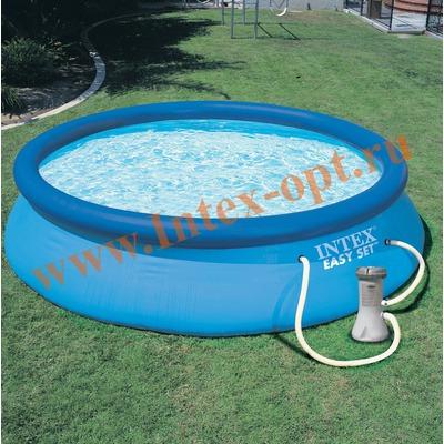 INTEX 28112 (56972) Бассейн надувной 244х76см с фильтр-насосом 2 м3/ч 220 В