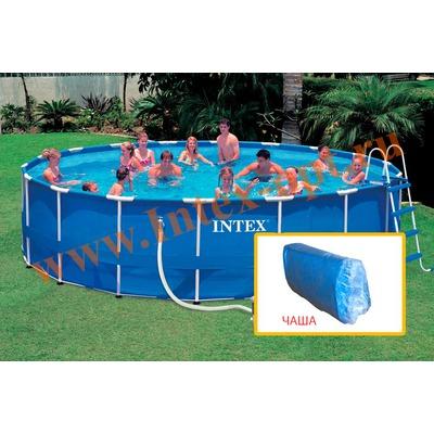 INTEX 10314 Чаша для круглых каркасных бассейнов Metal Frame 549х122 см