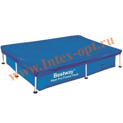 BestWay 58107 Тент для прямоугольных каркасных бассейнов 400х211х81 см