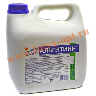 Маркопул Кемиклс (Россия) Альгитинн быстродействующее средство для уничтожения водорослей и слизи 3 л.(с пониженным пенообразованием)