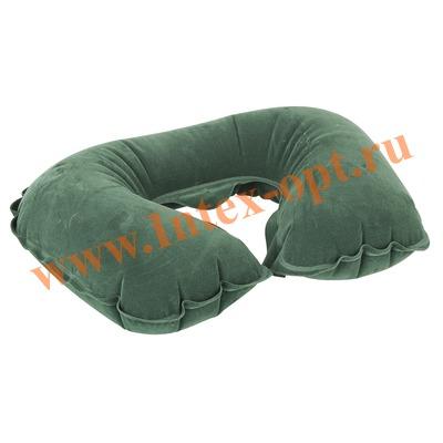 BestWay 67006 Надувная флокированная подушка-подголовник туристическая 48х28х12 см