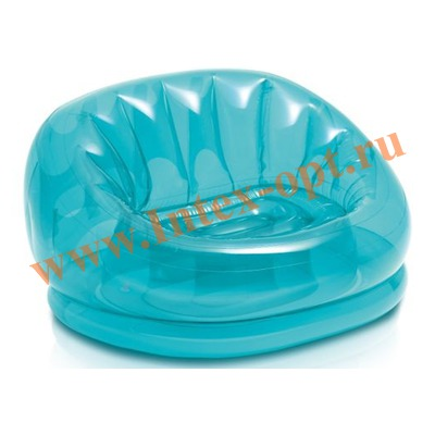 INTEX 68593/68594 Надувное кресло Cosmo Chair 104х117х69 см (без насоса) голубое