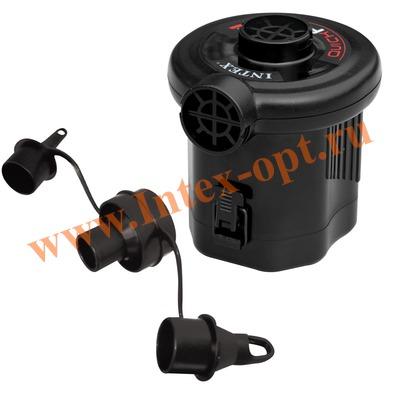 INTEX 68638 Электрический воздушный насос Quick-Fill BATTERY Pump (работает от батареек)