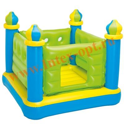 INTEX 48257 Надувной игровой центр-батут Jump-O-Lene Castle Bouncer 132х132х107 см(от 3 до 6 лет)