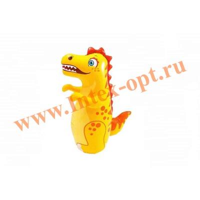 INTEX 44669 Надувная игрушка-неваляшка 3-D Bop Bags динозаврик 94х61 см (от 3 лет) без насоса