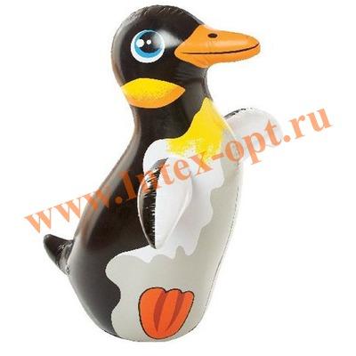 INTEX 44669 Надувная игрушка-неваляшка 3-D Bop Bags пингвин 91х61 см (от 3 лет) без насоса