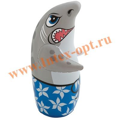 INTEX 44669 Надувная игрушка-неваляшка 3-D Bop Bags акула 89х46 см (от 3 лет) без насоса