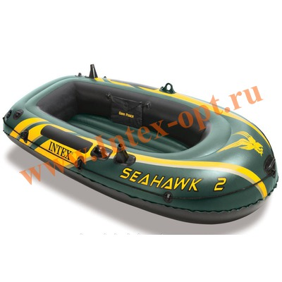 INTEX 68346 Двухместная надувная лодка Seahawk-2 236х114х41см(без насоса и весел)