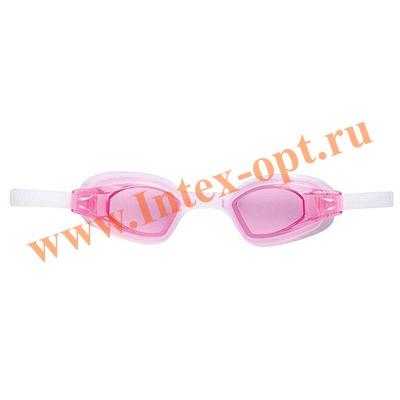 INTEX 55682 Очки для плавания Free Style Sport Goggles (от 8 лет)розовые