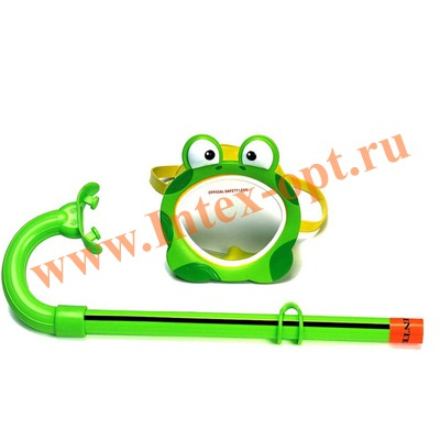 INTEX 55940 Маска и трубка для плавания Froggy Fun Set (от 3 до 8 лет)