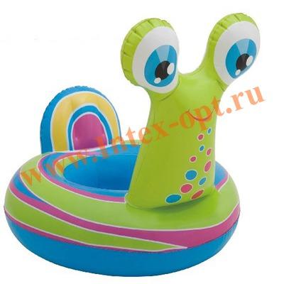 INTEX 58511 Надувной круг с трусиками Улитка See Me Sit Riders Baby Float 99х69 см(от 3 до 4 лет)без насоса