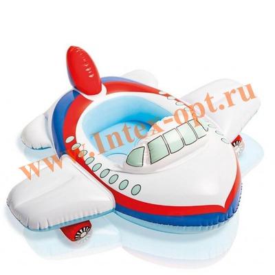 INTEX 59586 Надувной круг с трусиками самолётик Kiddie Floats 89х74 см(от 1 года)без насоса