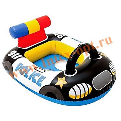 INTEX 59586 Надувной круг с трусиками полицейская машинка Kiddie Floats 71х57 см(от 1 года)без насоса