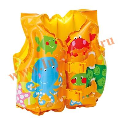 INTEX 59661 Жилет надувной для плавания Tropical Buddies Swim Vest 41х30 см(от 3 до 5 лет)
