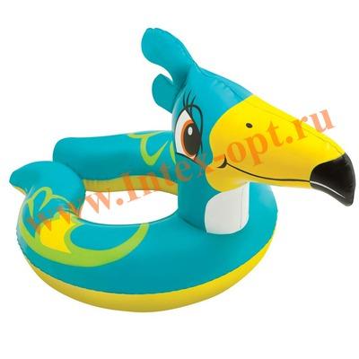 INTEX 59220 Круг надувной для плавания пеликан Animal Split Rings 77х55 см(от 3 до 6 лет)