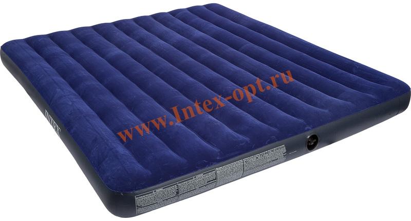 Надувной матрас intex 68755 classic 183х203х22см купить боровичи мебель матрац пружинный с рамкой плказать