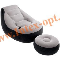 INTEX 68564 Кресло надувное с пуфиком 99х130х76 см(без насоса)