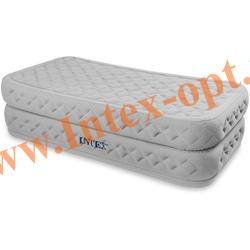 INTEX 66964 Односпальная надувная кровать Rising Comfort 99х191х51см (со встроенным насосом 220В)