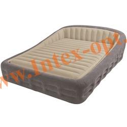 INTEX 67972 Двуспальная надувная кровать Comfort Frame 193х241х76см (с насосом 220В)