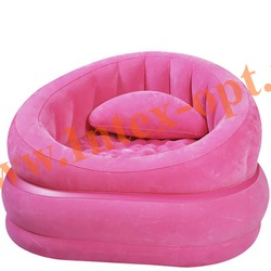 INTEX 68563 Надувное кресло 91х102х65см Розовое(без насоса)