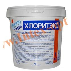 Маркопул Кемиклс (Россия) Хлоритэкс 1 кг., быстрорастворимый гранулированный органический препарат для ухода за водой плавательных бассейнов)