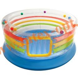 INTEX 48264 Надувной игровой центр-батут Jump-O-Lene Transparent Ring Bounce 182x86 см(от 3 до 6 лет)