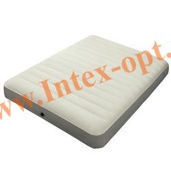 INTEX 64703 Двуспальный надувной матрас Intex Deluxe 152х203х25см