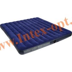 INTEX 68755 Двуспальный надувной матрас CLASSIC 183х203х22см