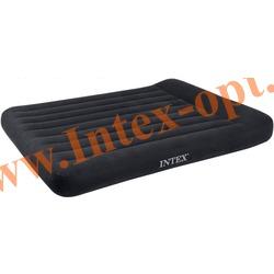 INTEX 66781 Двуспальный надувной матрас(матрац) с подголовником Classic 152х203х30см (со встроенным насосом 220В)