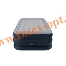 INTEX 67732 Односпальная надувная кровать Rising Comfort 99х191х43см (со встроенным насосом 220В)