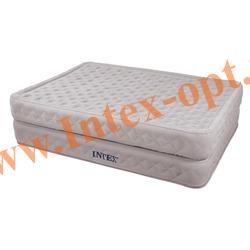 INTEX 66962 Двуспальная надувная кровать Rising Comfort 152х203х51см (с встроенным электронасосом 220 В)
