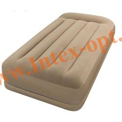 INTEX 67740 Односпальная надувная кровать 102х203х35см с подголовником (без насоса)