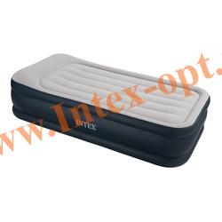 INTEX 67730 Односпальная надувная кровать Rising Comfort 99х191х43см (без насоса)